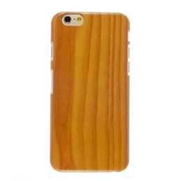Apple iPhone 6(S) PLUS Wood style houten hoesje Bruin/Oranje