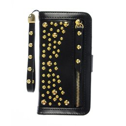 Cool Case Apple iPhone SE / 5 / 5S Hoesje met Gouden Studs Zwart
