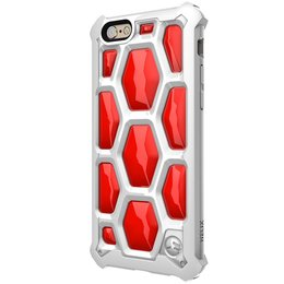 SwitchEasy 3D Military Spec Drop Proof Case voor iPhone 6 / 6S - Wit / Rood