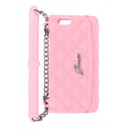 GUESS Apple iPhone 5 / 5S / SE Silicone Clutch Case Roze