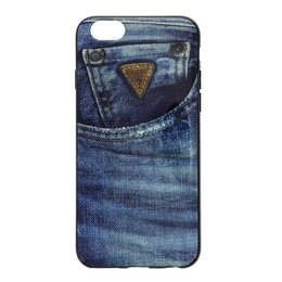 GUESS Denim TPU Case Blue Jeans voor iPhone 6 / 6S