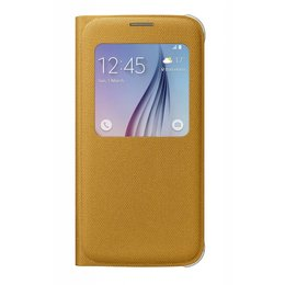 Samsung S-View Premium Originele Case Cover Canvas Galaxy S6 - Yellow (Fabric)