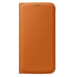 Samsung Flip Wallet Case Canvas Galaxy S6 - Orange (Fabric)