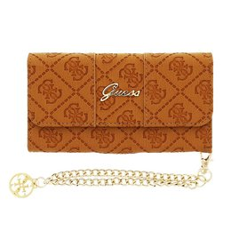 GUESS Wallet Clutch Case voor iPhone 6 / 6S - Cognac