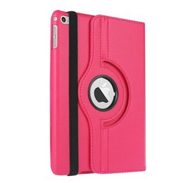 Rotating 360 Case Apple iPad Mini 4 - Folio Hoes met Stand - Donker Roze