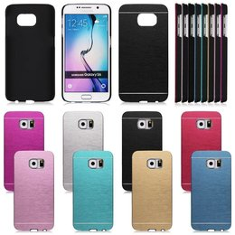 Samsung Galaxy S6 Hybrid Aluminum Brushed Back Cover Hoesje