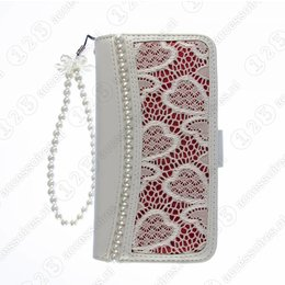 Cool Case Galaxy S4 Wallet Case Parel-Accenten Wit