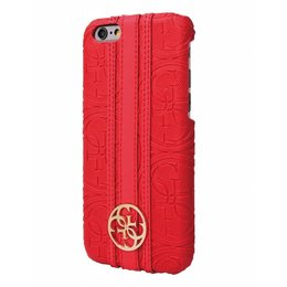 GUESS Apple iPhone 6 / 6S Herritage Back Cover Hoesje Rood