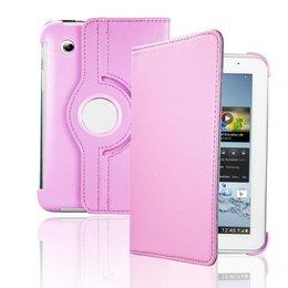 Samsung Galaxy Tab 2 7.0 inch Rotating Case - Licht Roze