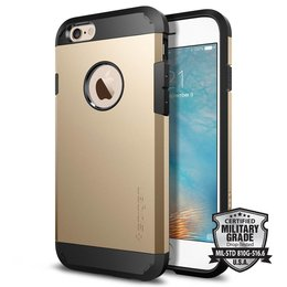 Spigen Apple iPhone 6 / 6S Tough Armor Backcover Hoesje - SGP11613 - Champagne Gold