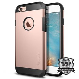 Spigen Apple iPhone 6 / 6S Tough Armor Backcover Hoesje - SGP11741 - Rose Gold