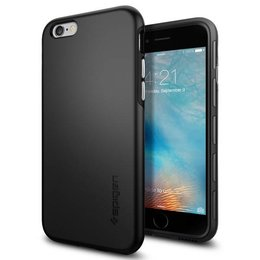 Spigen Apple iPhone 6 / 6S Thin Fit Hybrid Hoesje SGP11730 - Zwart