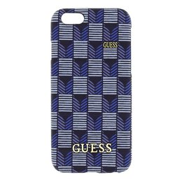 GUESS iPhone 6 / 6S Jet Set Hard Case Hoesje - Blauw