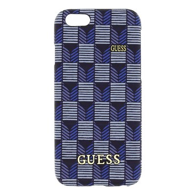 GUESS iPhone 6 / 6S Jet Set Hard Case Hoesje - Blauw