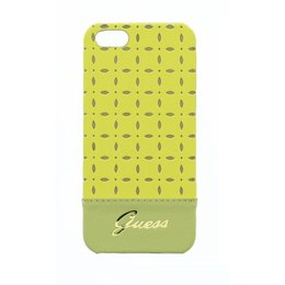 GUESS iPhone SE / 5 / 5S Gianina Collection Back Cover Case Geel