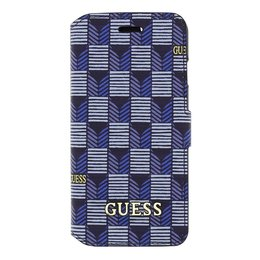 GUESS iPhone 6 / 6S Denim Stijl Book Case Hoesje Blauw