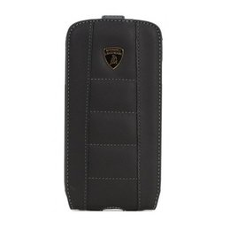 Lamborghini iPhone 4 / 4S Flip Case - Zwart