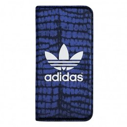 Adidas Silk Booklet Hoesje voor iPhone 6 / 6S - Crocodile - Blauw