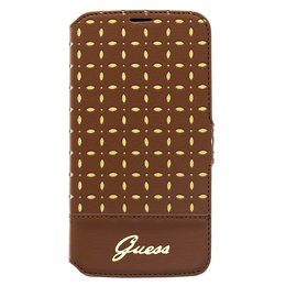 GUESS Galaxy S5 / S5 Plus / S5 Neo Gianina Real Leather Book Case Hoesje