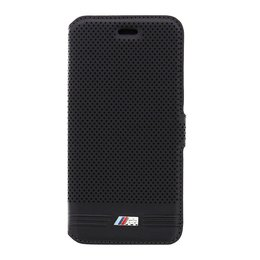 BMW iPhone 6 / 6S Embossed Line Book Case - Zwart