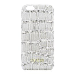 GUESS Apple iPhone 6 / 6S Back Cover Croco Shiny Croco Beige