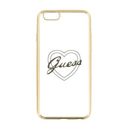 GUESS iPhone 6 / 6S Silicon TPU Case Ultra Dun Flexibele Heart Goud Hoesje