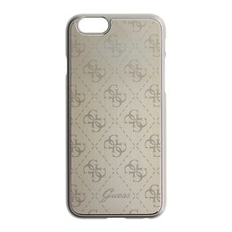 GUESS iPhone 6 / 6S 4G Collection Hard Back Cover Aluminium Hoesje Goud