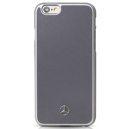 Mercedes-Benz Metallic Plate Hard Case Hoesje voor iPhone 6 / 6S - Grijs