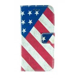 Apple iPhone 6 / 6S Wallet Case Portemonnee USA Vlag