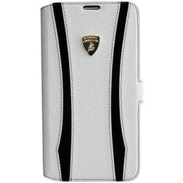 Lamborghini Diablo D1 Case - Echt Leren Hoesje voor Samsung Galaxy S5 / S5 Plus / S5 Neo - Wit