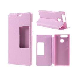 Huawei P9 Smart View Cover Hoesje - Roze