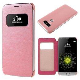 LG G5 Flip Smart Window View Hoesje - Roze