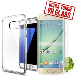 Galaxy S7 - 2 in 1 Set TPU Case met Tempered Glass