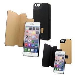 Muvit iPhone 6 / 6S Magic Reverso Dual Wallet Hoesje - Zwart / Beige