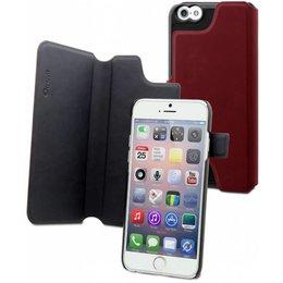 Muvit iPhone 6 / 6S Dual Wallet Hoesje - Rood / Zwart