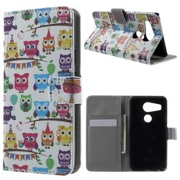 LG Nexus 5X Lederen Stand Wallet Flip Case Multiple Owls