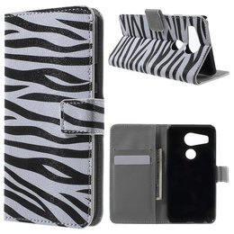 LG Nexus 5X Lederen Stand Wallet Flip Case Zebra Stripes