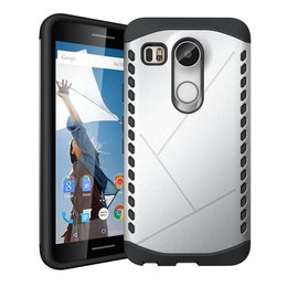 LG Nexus 5X Tough Shield 2-in-1 TPU Hybrid Case - Silver