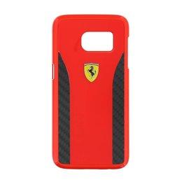 Ferrari Galaxy S7 Daytona Carbon Look Back Cover - Rood