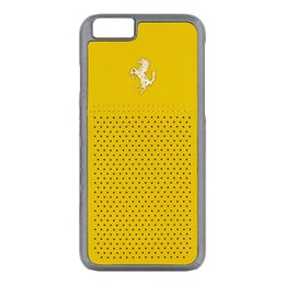 Ferrari GTB iPhone 6 / 6S Leather Back Cover - Geel