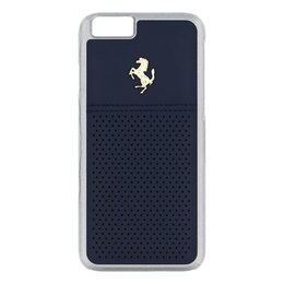 Ferrari GTB iPhone 6 / 6S Leather Back Cover - Blauw