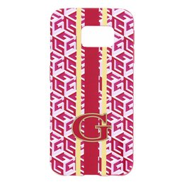 GUESS Samsung Galaxy S6 Edge G-Cube TPU Hoesje - Roze
