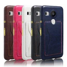 LG Nexus 5X Leren Wallet Stand