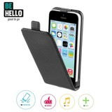 BeHello iPhone 5C Flip Case - Zwart