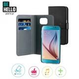 BeHello Galaxy S6 2 in 1 Wallet Case - Zwart