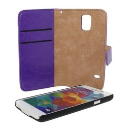2 in 1 Wallet met Clip On Magnet voor Galaxy S5