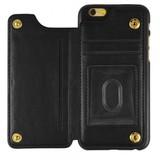 iPhone 6 / 6S Hoesje - Back Case met Ruimte voor Pasje - Zwart