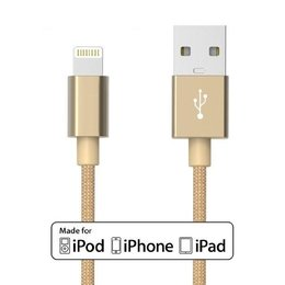 8 Pins Lightning Nylon Kabel 1 Meter voor iPad & iPhone