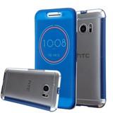 Blauw HTC 10 Ice View Smart Fingerproof Hoesje