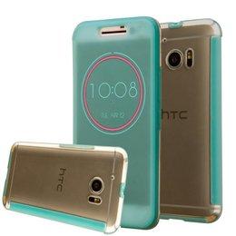 Turquoise HTC 10 Ice View Smart Fingerproof Hoesje